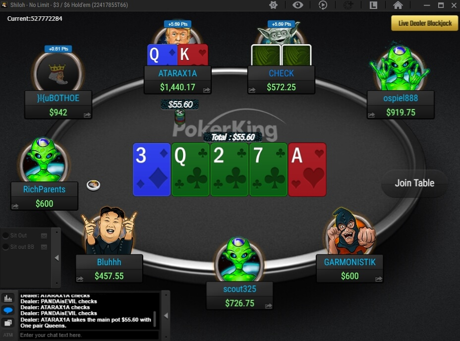 pokerking table