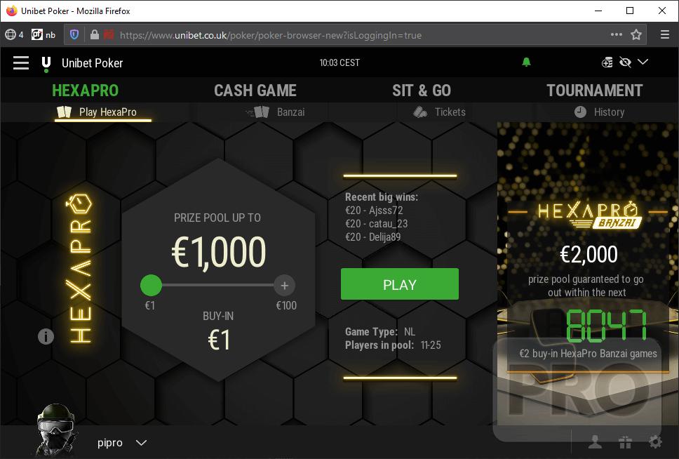 unibet poker client