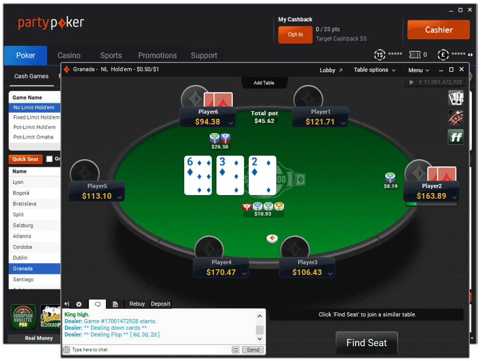 partypoker new software design